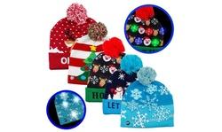 Festive light up led Christmas knit hat
