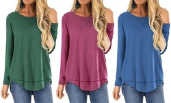 Women's Long Sleeve Tee S-3X  Loose Fit Cross Stitch by Haute Edition