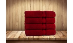 "100% Cotton Zero Twist Set of 4 Bath Sheets (35"" x 66"" Oversized Bath Towels)"