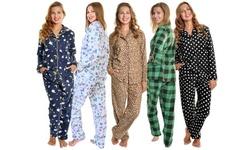 Angelina Cozy Fleece Pajama Set (Also in Plus Sizes)