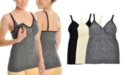 Angelina Seamless Nursing Bra-Top Camis (3-Pack)
