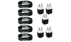 5x Charging Kits 8-pin Cords Wall / Home Chargers for iPhone 11 x 8 7 6 5