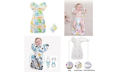 Baby Transitional Swaddle Sleep Bag Sack Arms Up w/ Removable Mitten Sleeves