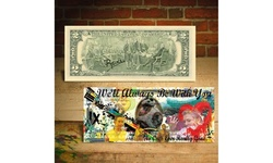 RISE OF SKYWALKER - Star Wars IX Two-Dollar Bill Pop Art HAND-SIGNED by Rency