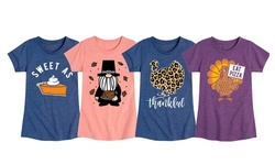 Instant Message: Toddler and Youth Girl's Trendy Thanksgiving T-Shirts
