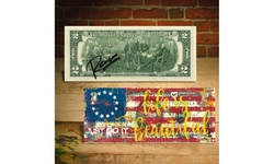 BETSY ROSS FLAG 1776 Two-Dollar Bill Signed and Numbered of 1,776 - JUST DO IT