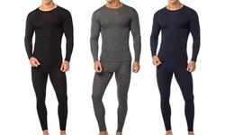 (4-Piece) Men's Cotton Fleece Thermal Set