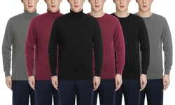 Verno Men's Cashmere Sweater Long Sleeve Pullover