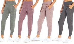 Balance Collection Women's Heather Jersey Jogger Pants with Pockets