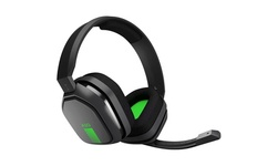 Logitech Astro A10 Wired Gaming Headset w/ Boom Mic for PC and Xbox - Gray/Green