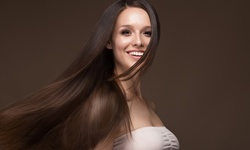 Keratin Treatment with Optional Haircut at The Color Room (Up to 50% Off)