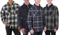 Maxxsel Men's Button-Down Flannel Shirt (M-2XL)
