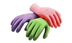 Women/Men Nitrile Coated Garden Gloves, assorted color, 6 Pack