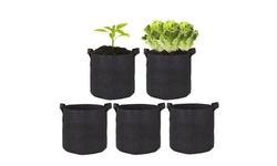 5 Pack Garden Grow Bag Vegetable Plant Bag(3,5,10,15 Gallon)