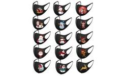 15PCS Adult's Christmas Prints Protection Face Mask Washable Earloop Mask