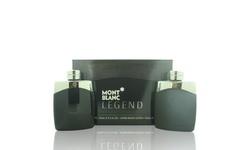 Mont Blanc Legend Mont Blanc 2 Piece Gift Set 3.3 Oz Eau De Toilette New Box Men
