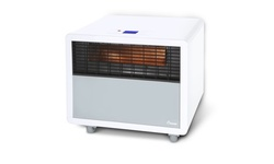 Crane Ultra Compact Infrared Heater with Quartz Element, Wheels, LCD Display