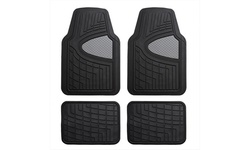 Universal Fit Heavy Duty Rubber All Weather Floor Mats (4 Piece Set) F11311-G