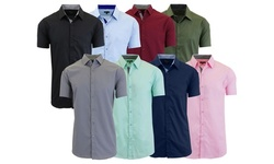 Galaxy by Harvic Men's Short-Sleeve Dress Shirt (3-Pack; S-5XL)