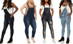 CG Women's Slim-Fit Denim Overalls. Plus Sizes Available.