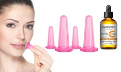 Facial Cupping Kit with Vitamic C serum