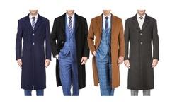 Braveman Men's Wool Blend Over Coats (S-3XL)