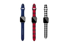 Buffalo Plaid Apple Watch Silicone Bands Series 1, 2, 3, 4, 5, 6, & SE