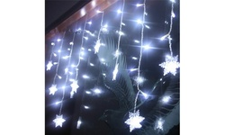 3.5M 96LED Snowflake String Curtain Lights Xmas Wedding Window Decor