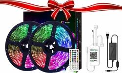 LED Strip Lights Flexible Color Changing 5050 RGB 300 LEDs 32.8Ft Strip Light