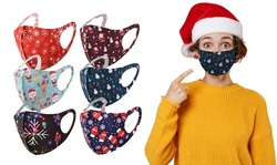 Christmas Print Reusable Face Masks for Protection (12-Pack)