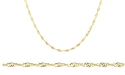 14K Gold Plated Singapore Chain Necklace