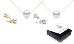 Genuine Pearl Pendant and Earrings by Gemma Luna