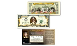 HARRIET TUBMAN World Release Colorized Genuine Legal Tender Two-Dollar Bill