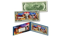 FIRE DEPARTMENT Firefighters Genuine U.S. Two-Dollar Bill - The Bravest