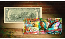 SPIDERMAN Amazing Fantasy Legal Tender US Two-Dollar Bill Signed by Artist Rency