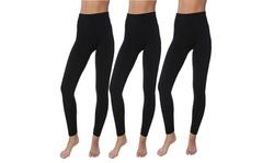 Active Club Women's Fleece Lined Soft,High Waist,Slimming,Winter Leggings-3 PK