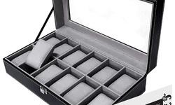 Premium 12 Slots Watch Box Pillows Case Organizer