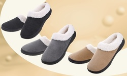 Vonmay Men's Warm Slippers Wool-like Clog Indoor/Outdoor Shoes