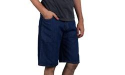 Maxxsel Oscar Jeans Men's Basic Flat Front Denim Shorts (Sizes 30-48)