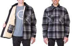 Maxxsel Men's Buffalo Plaid Sherpa Lined Fleece Zipper Jacket (S-5XL & LT-3XLT)
