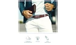 Mio Marino Men's Rectangular Buckle Classic Linxx Ratchet Dress Belt