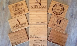 "Two or Three 6""x8"" Personalized Bamboo Cutting Boards from Qualtry (Up to 85% Off)"