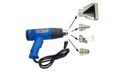 1500W Dual Temperature Heat Gun W/ 4pcs Stainless Steel Concentrator Tips Blue