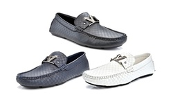 Marco Vitale Men's slip On Casual Driving Dress Loafers
