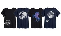 Instant Message: Kids' Stars Constellations & Galaxy T-Shirt