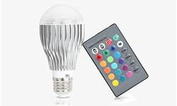 efamilymart Magic Color Changing LED Light Bulb & Remote Control (1- or 2-Pack)