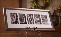 57% Off Personalized and Framed Alphabet-Photography Keepsake Art from Sticks and Stones
