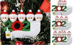 Family 2020 Christmas Resin Ornament Quarantine Decorating Kit