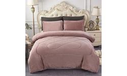Solid Warm Soft Plush Sherpa Comforter Set,Sherpa Bed Blanket (3-Piece)
