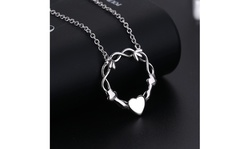 Sterling Silver Infinity and Heart Pendant Necklace